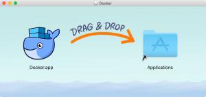 Docker.appをApplicationsにドラッグ&ドロップ